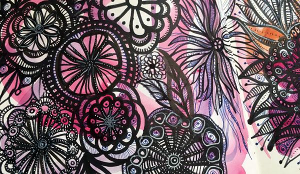 art journal spread inspired by Alisa Burke