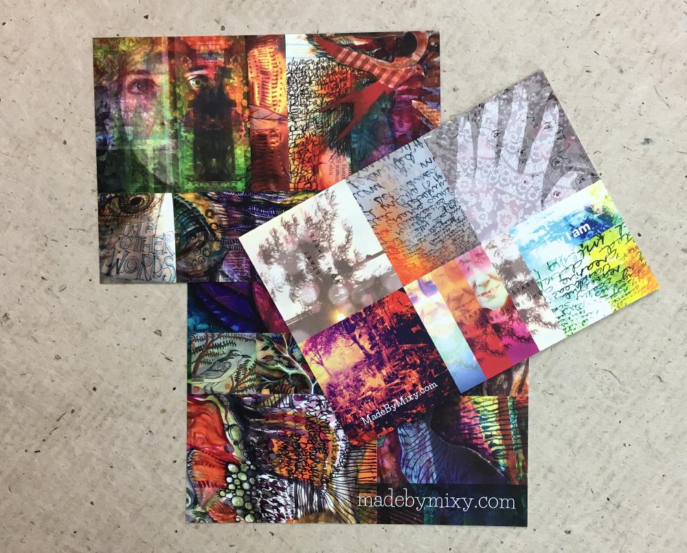 100 drawings, 9 postcards, 1/2price