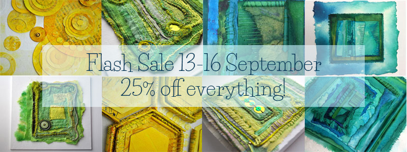 Flash Sale 25% off everything in my Etsy shop 13-17 September