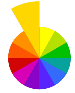 yellow-orange in the color wheel
